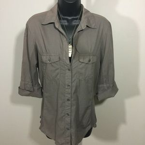 James Perse Standard Womens Top Taupe Size 3 Excel